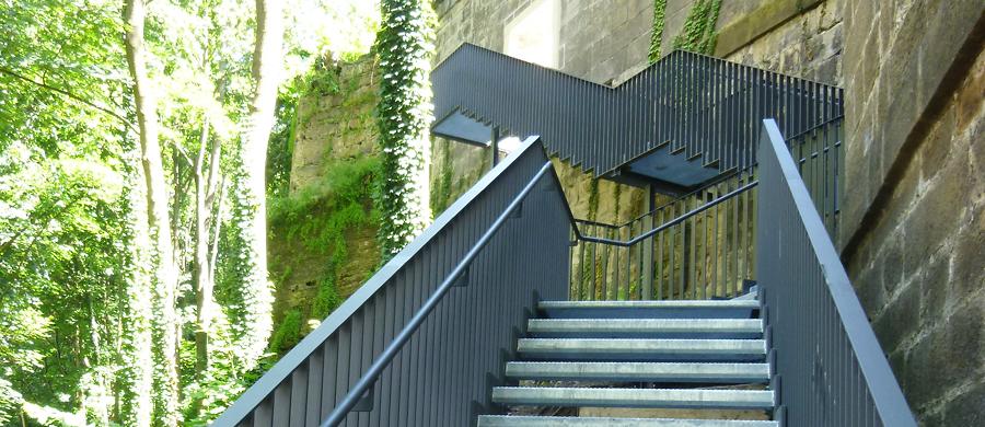 Stahltreppe Schloss Sonnenstein